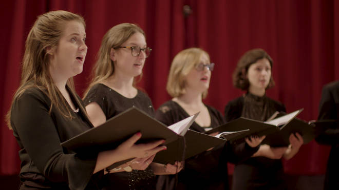 Genesis Sixteen perform at St John's Smith Square in 'A Classic FM Christmas', now streaming on Amazon Prime.