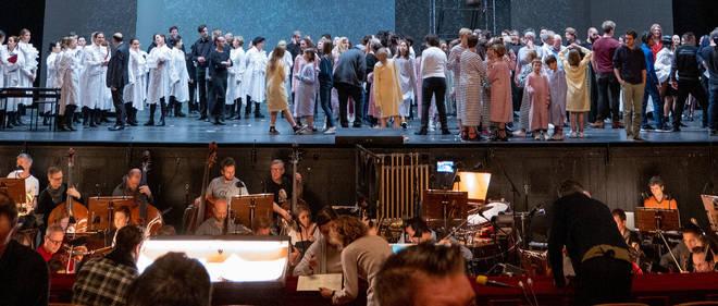 Olga Neuwirth's Orlando is rehearsed at Vienna Opera House 2019