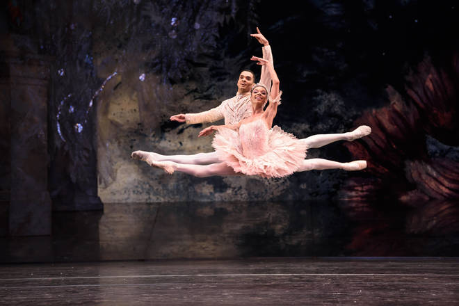 Brandon Lawrence and Céline Gittens in Birmingham Royal Ballet's 'The Nutcracker'
