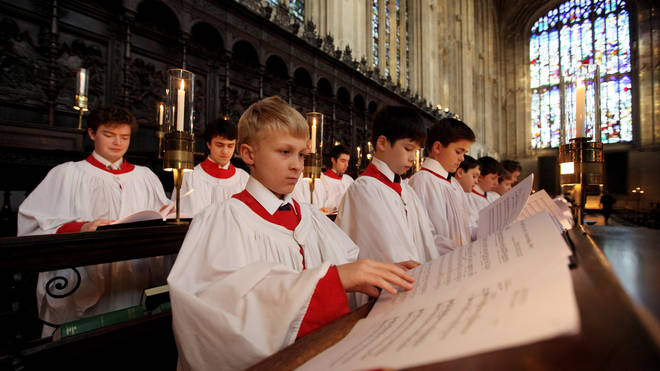 Kings College Choir Rehearse 'A Festival of Nine Lessons and Carols'