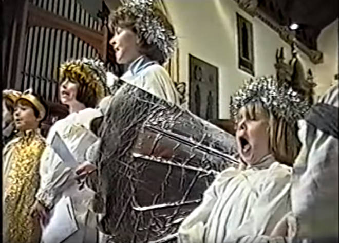 Funny nativity girl