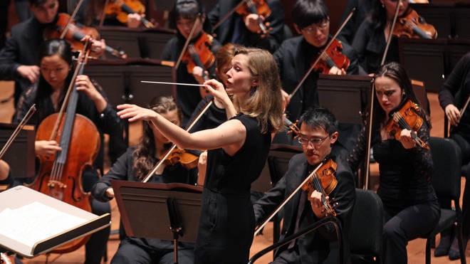 Mirga Grazinyte-Tyla conducts the Juilliard Orchestra