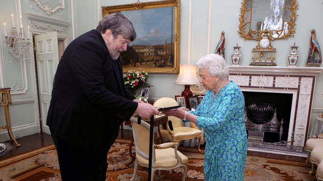 Oliver Knussen is presented with the Queen's Medal for Music in 2016