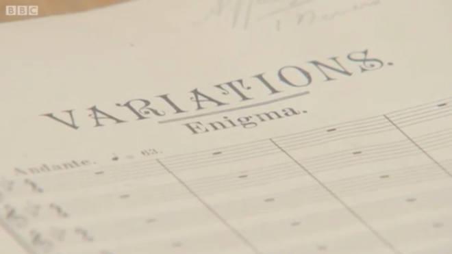 Elgar's original manuscript