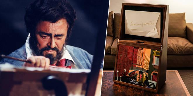 Pavarotti and the painting box