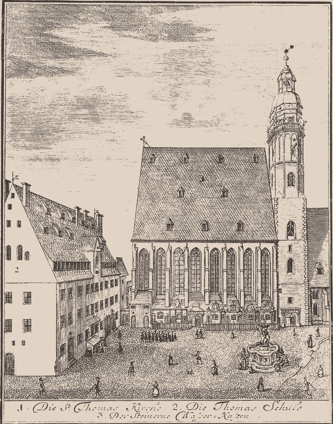 St. Thomas Church And St. Thomas School In Leipzig, 1723