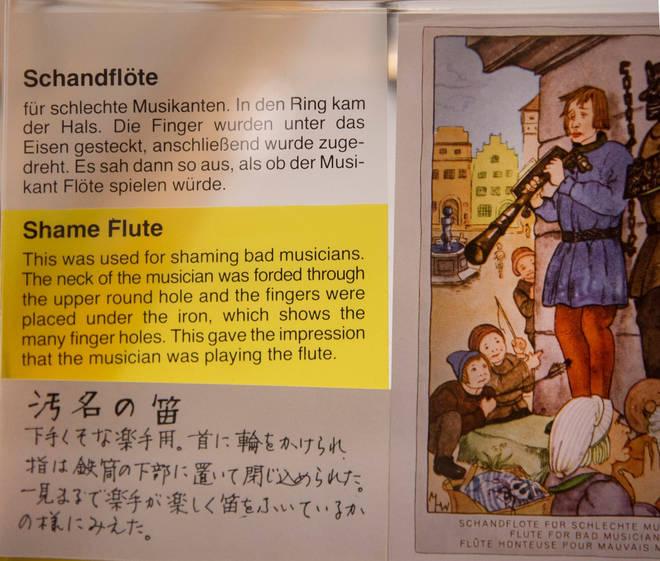 Medieval Shame Flute - found in Rothenburg, Germany