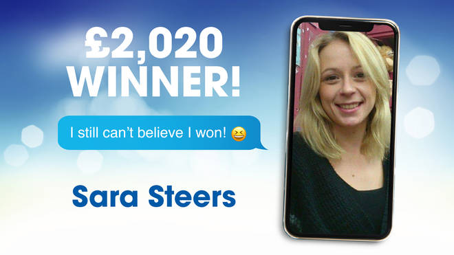 Recent SMS competition winner, Sara.