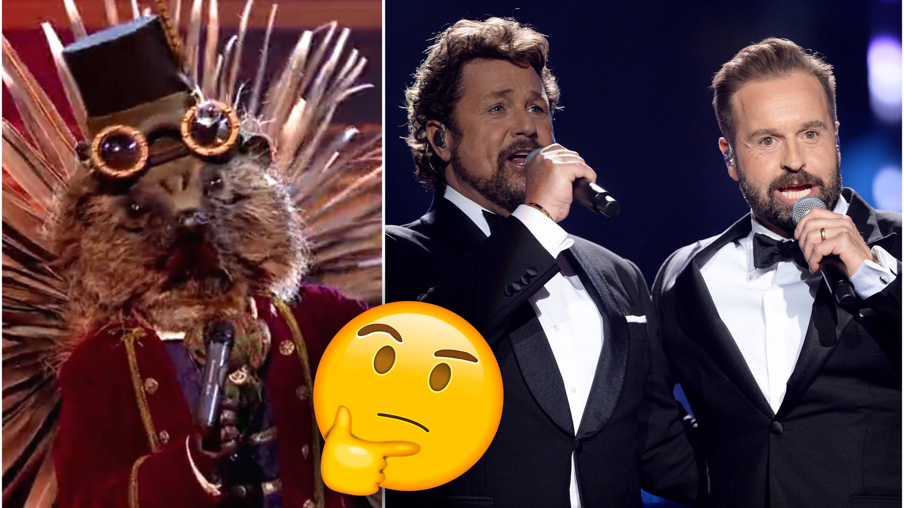 Fans of The Masked Singer are convinced that 'Hedgehog' is Alfie Boe or Michael Ball