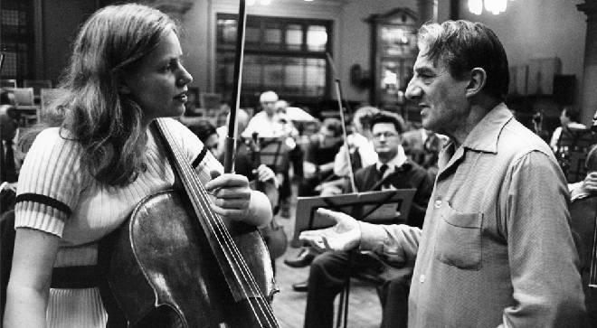 Jacqueline du Pré and conductor Sir John Barbirolli