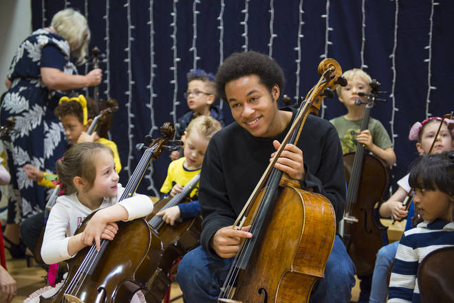 Sheku Kanneh-Mason inspires a new generation of cellists