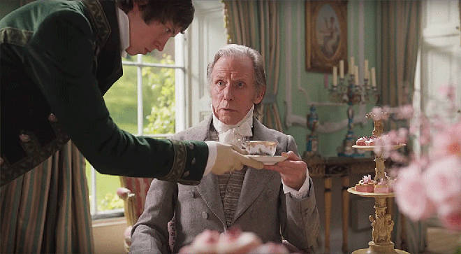 Bill Nighy stars as Mr. Woodhouse in Emma
