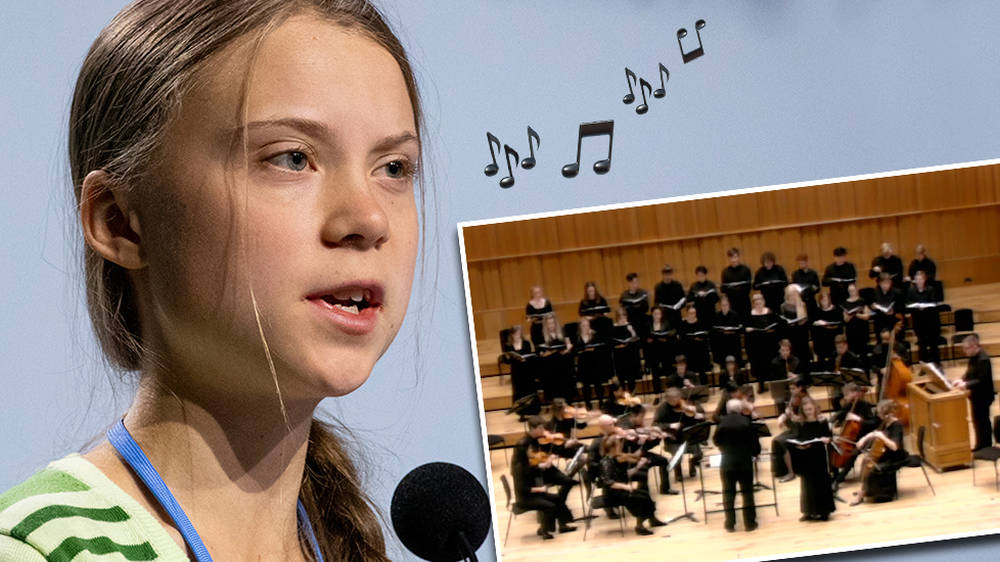 Greta Thunberg's powerful words on climate change set to music by British composer