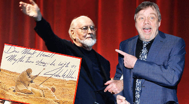 Mark Hamill is reunited with missing vinyl signed by John Williams