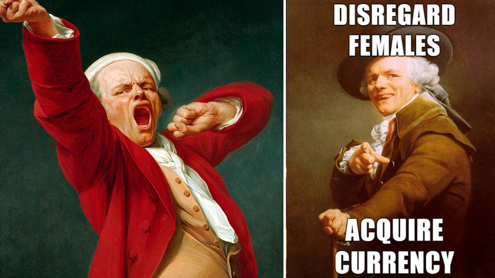 Joseph Ducreux's unorthodox 18th-century self-portraits make the best classical art memes