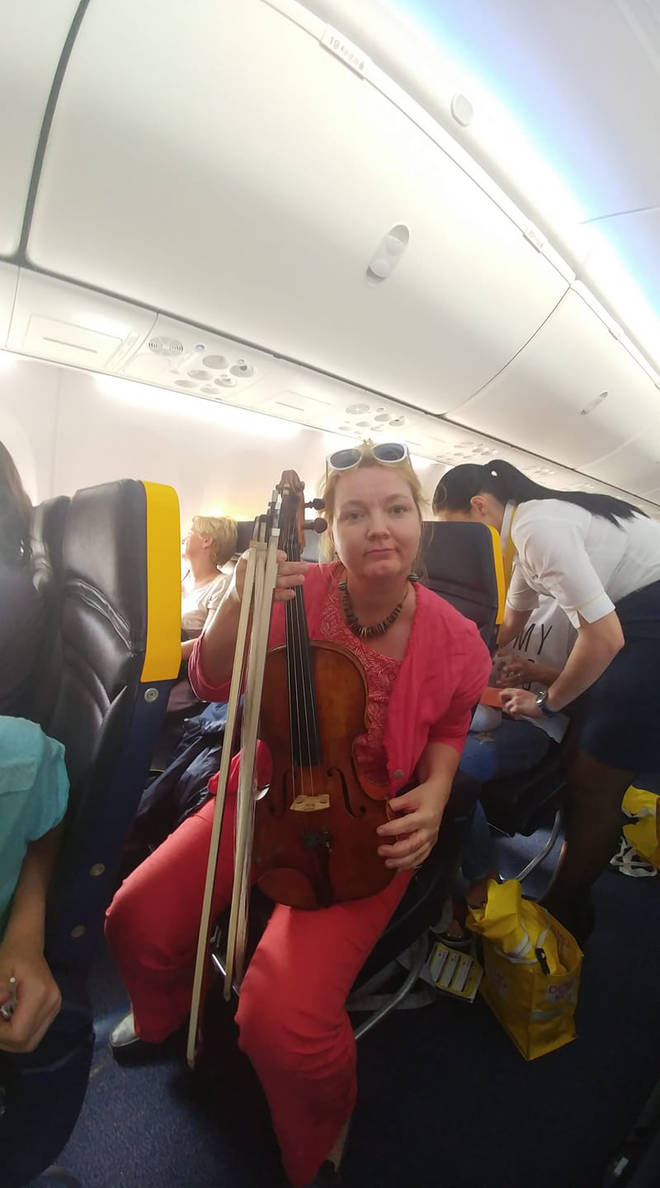 Ryanair told Marie-Jeanne Mai-Antal she would have to carry her instrument on her lap