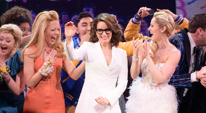 Tina Fey and the cast of Mean Girls on Broadway opening night