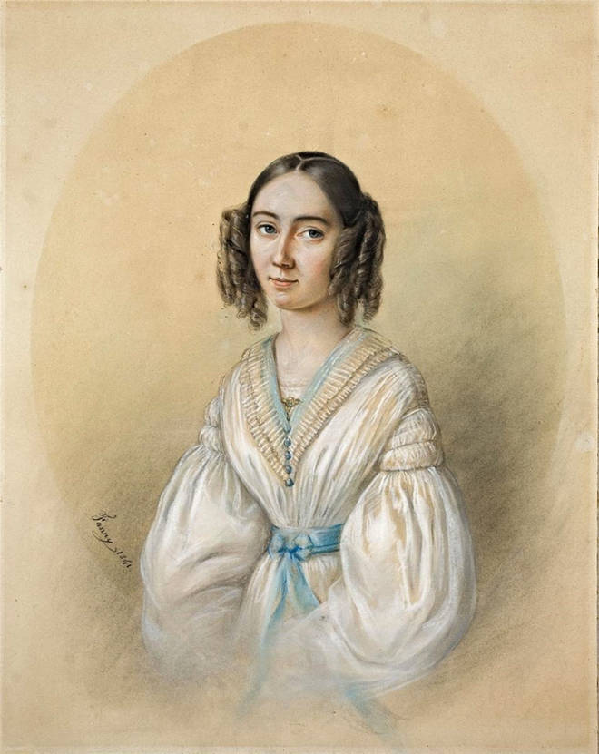 Portrait Of The Composer Fanny Hensel Nee Mendelssohn 1805-1847