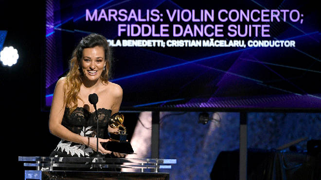 Nicola Benedetti wins her first Grammy Award