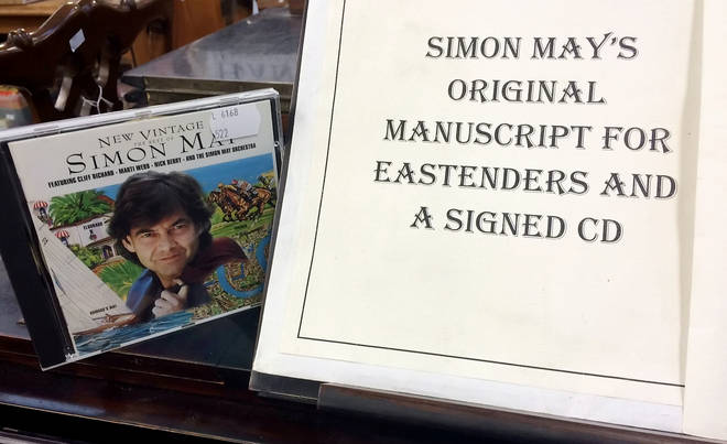 Simon May had to buy his original work at an auction