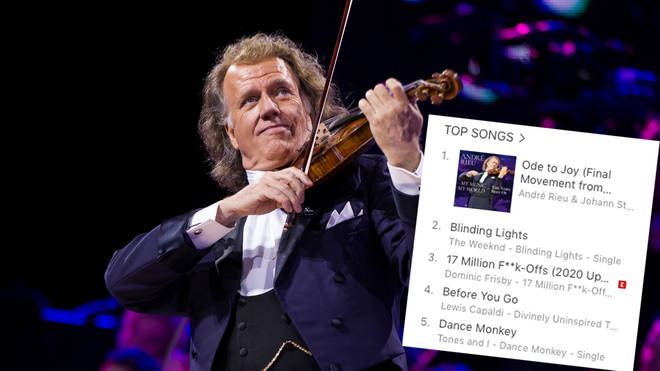 André Rieu's version of Beethoven's 'Ode to Joy' tops the singles download chart