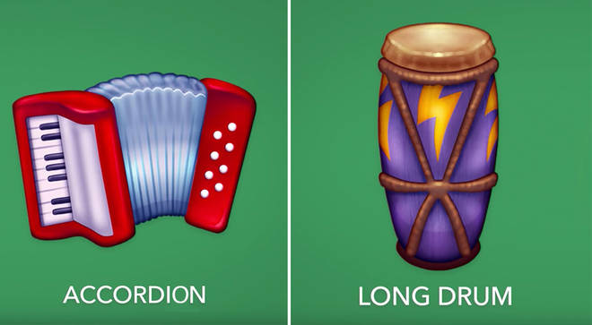 Accordion and percussion emojis included in new 2020 emojis list