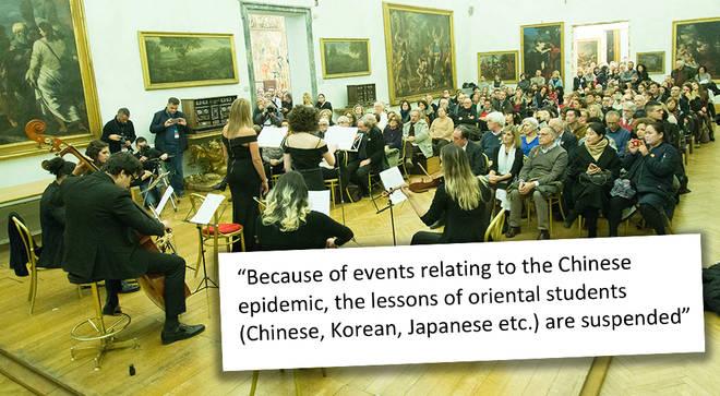 Top Italian conservatoire bans 'oriental' students