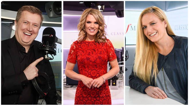 Aled Jones, Charlotte Hawkins and Eímear Noone present weekend shows on Classic FM.