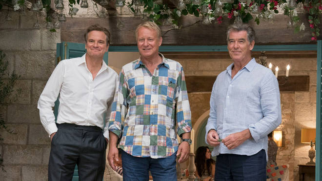 Colin Firth, Stellan Skarsgård and Pierce Brosnan in Mamma Mia! Here We Go Again