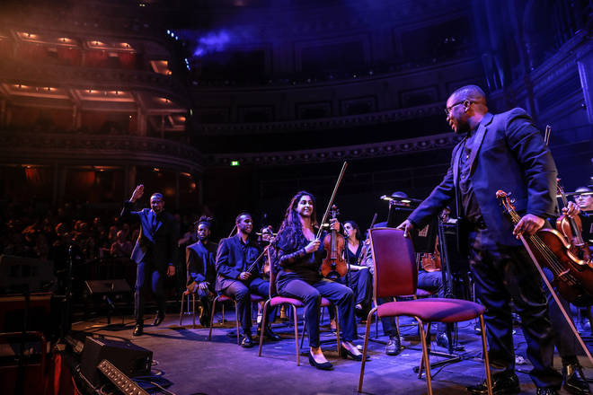 Chineke! performs with Carl Craig at the Royal Albert Hall, London