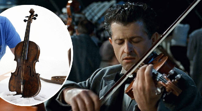 Million-dollar 'Titanic' violin goes on display at history museum