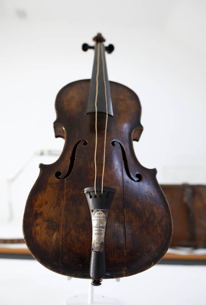 The violin played by bandleader Wallace Hartley during the final moments before the sinking of the Titanic