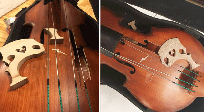 Double bass severely damaged following Turkish Airlines flight