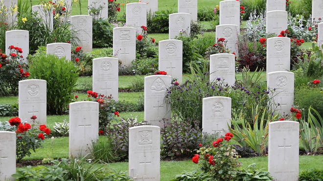 War graves at Thiepval Memorial to the Missing of the Somme