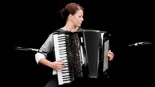 Ksenija Sidorova plays the classical accordion