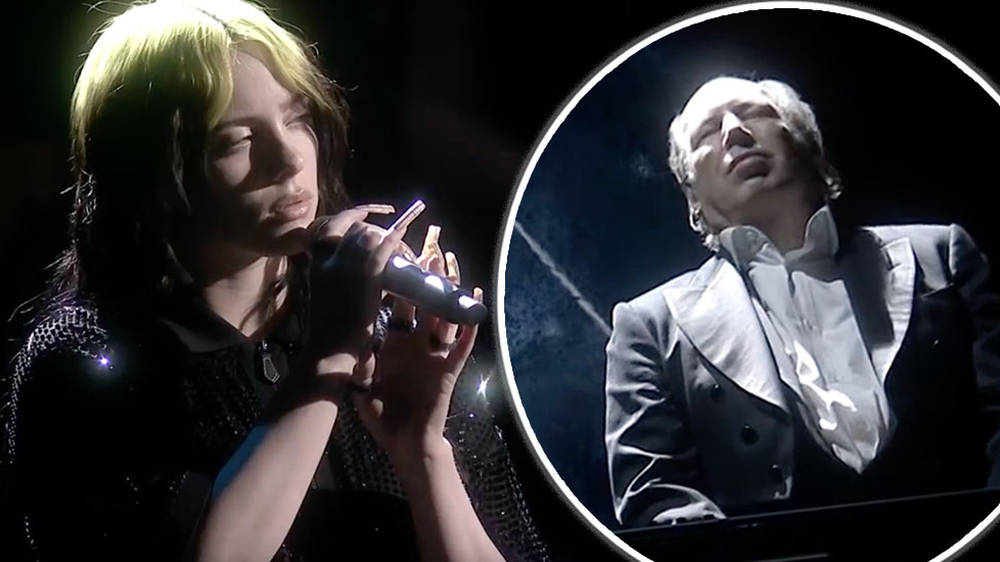 Hans Zimmer and Billie Eilish perform 'No Time to Die' live at the BRIT Awards