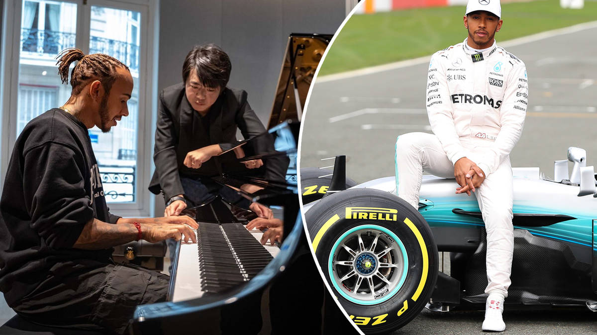 F1 champion Lewis Hamilton casually jammed on piano with Lang Lang