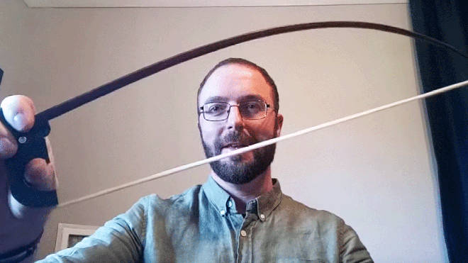 This Australian bow-maker has developed a hinged bow