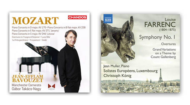 Mozart Piano Concertos by Jean-Efflam Bavouzet and Louise Farrenc: Symphony No. 1 by Solistes Europeens, Luxembourg