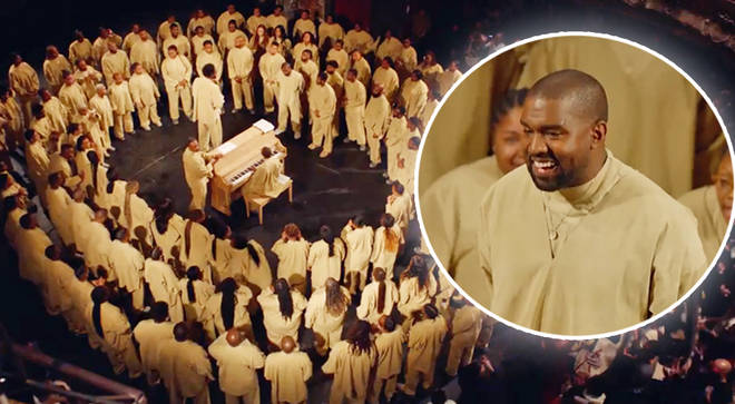 Kanye West performed Sunday Service at Paris Fashion Week last Sunday