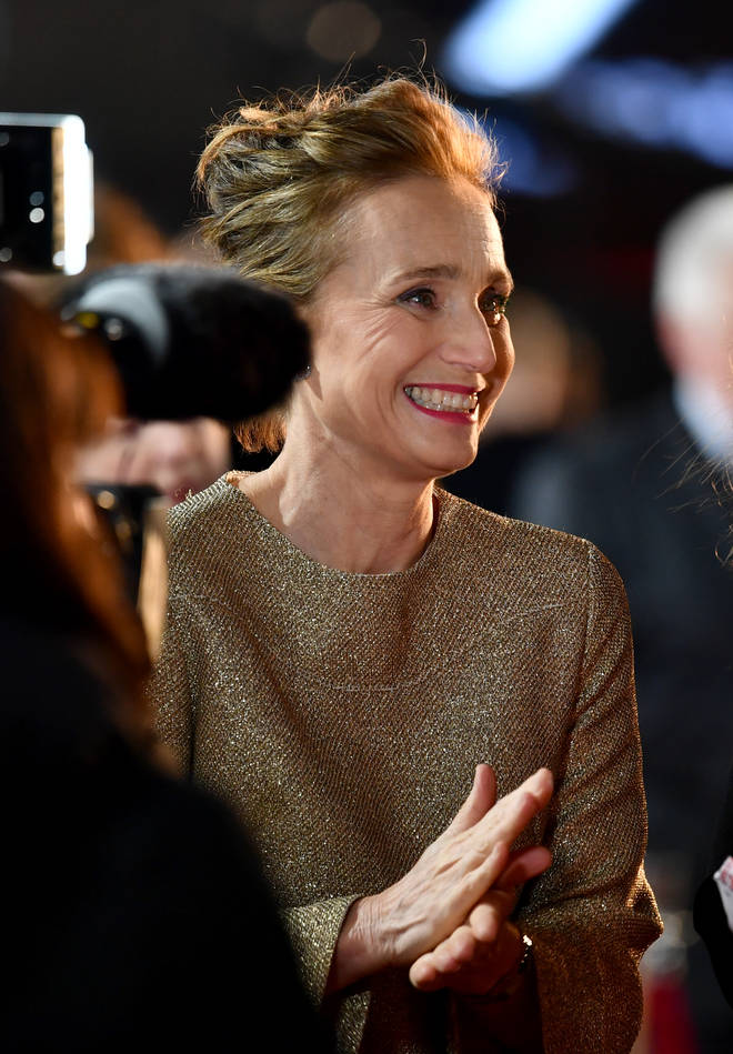 Kristin Scott Thomas attends the 'Military Wives' UK Premiere 2020 (Red Carpet Arrivals)