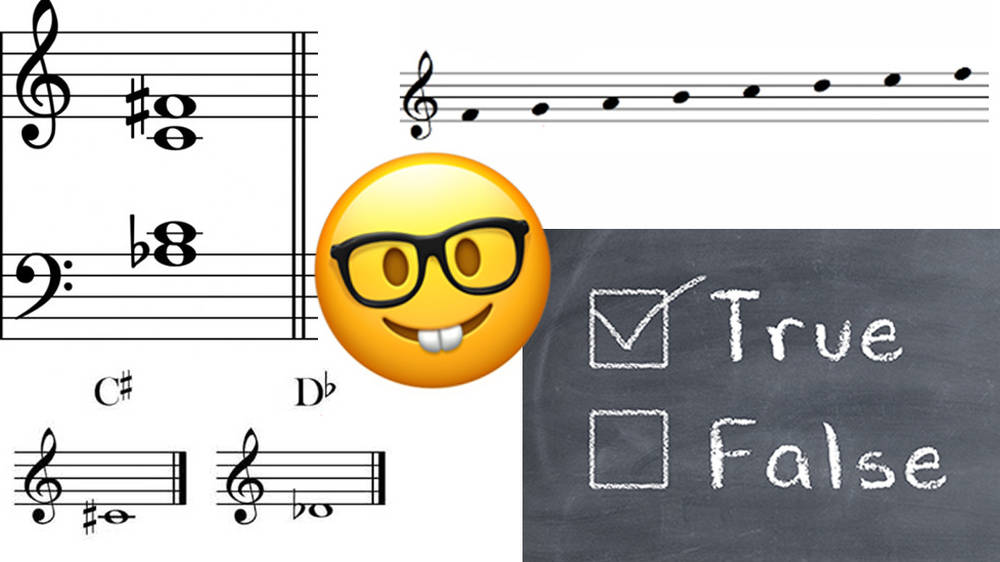 Can you score 12/15 in this music theory 'True or False' quiz?