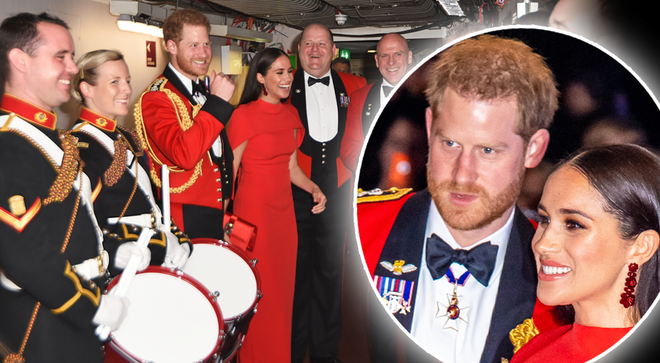 The Duke and Duchess of Sussex attended the Mountbatten Festival of Music at the Royal Albert Hall on Saturday night.