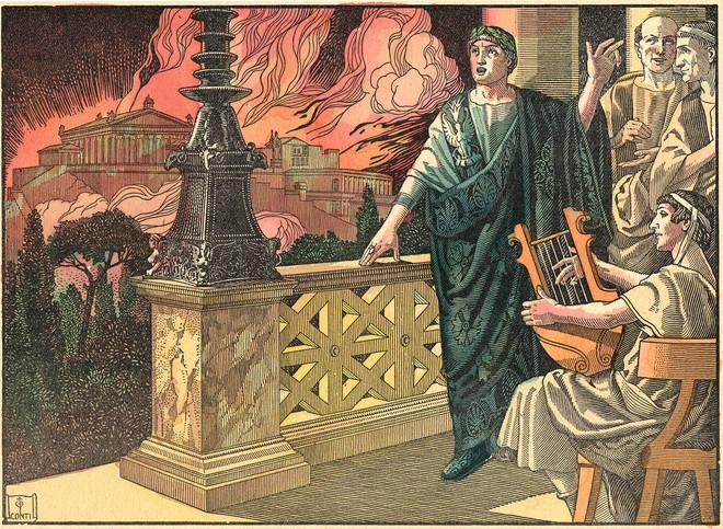 """Nero fiddles while Rome burns"""