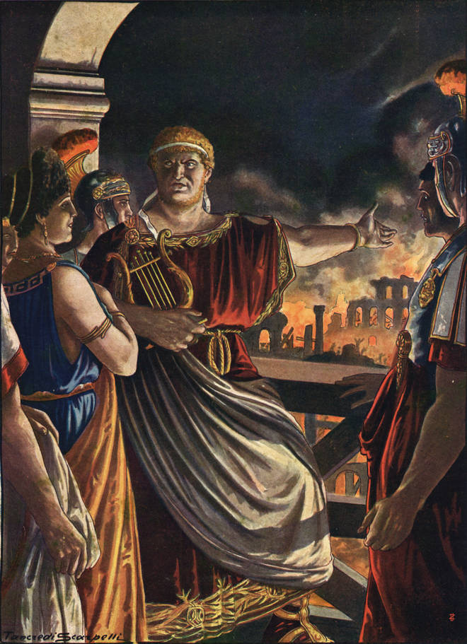 Emperor Nero was a gifted cithara player