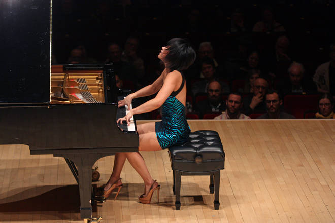 Yuja Wang performing at New York's Carnegie Hall in 2018