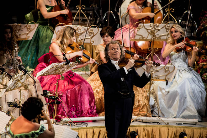 André Rieu performs with his orchestra at Ziggo Dome, Amsterdam