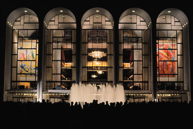 New York's Metropolitan Opera House is closed.