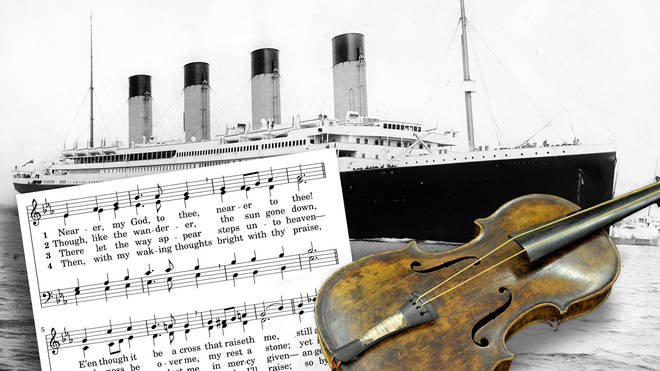 What was the violin hymn played at the sinking of the Titanic?
