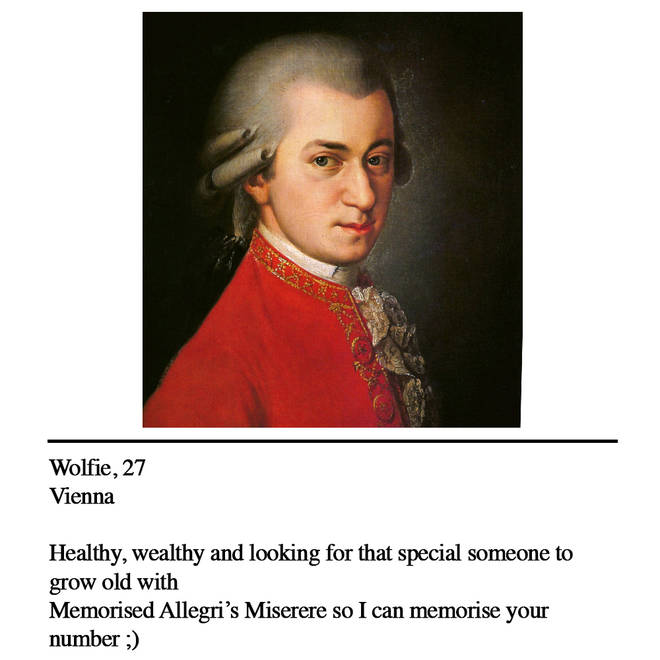 Mozart dating profile